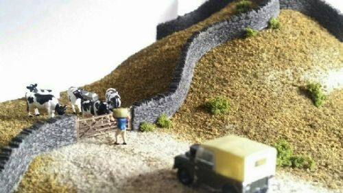 ARCHN0200 Arch Laser Flexible Cotswold Stone Walling & Gate PACK - N Gauge